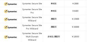 Symantec OV证书价格?