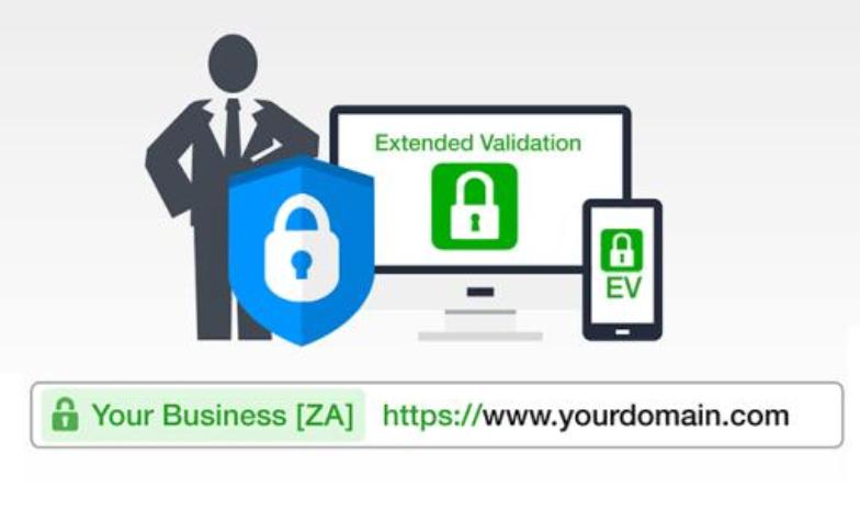EV SSL证书浏览器展示形式