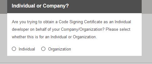 代码签名证书签署