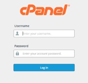 登录到cPanel